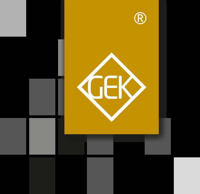 Logo der GEK Gesellschaft für Elektrogerätebau und Kunststoffverarbeitung mbH
