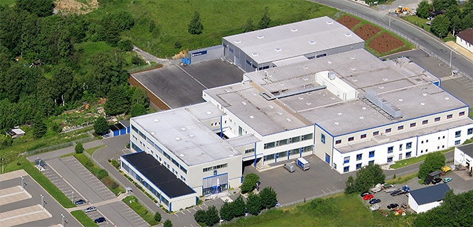 Luftbild des Rudi Göbel Hauptsitzes